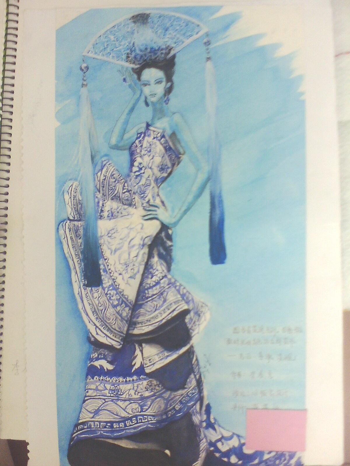 青花瓷-女装设计-服装设计