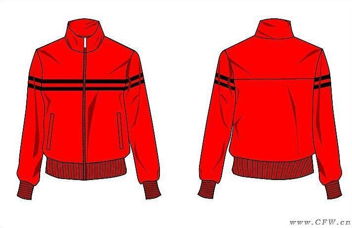 简洁运动(校服设计图)-男装设计-服装设计