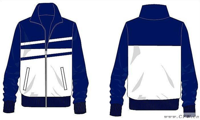 平面亮布运动系(校服设计图)-男装设计-服装设计