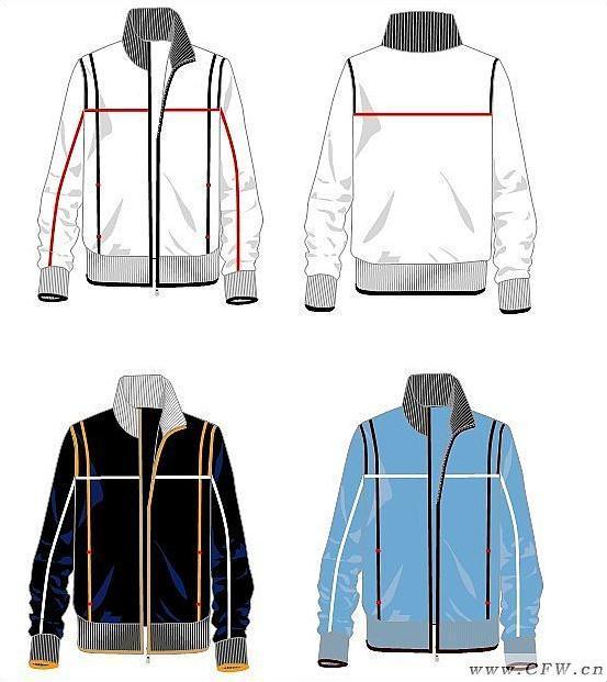 休闲运动整组(校服设计图)-男装设计-服装设计