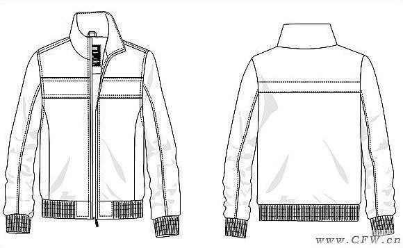 休闲夹克-男装设计-服装设计