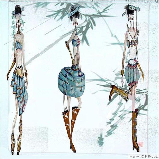 竹作品-竹款式图