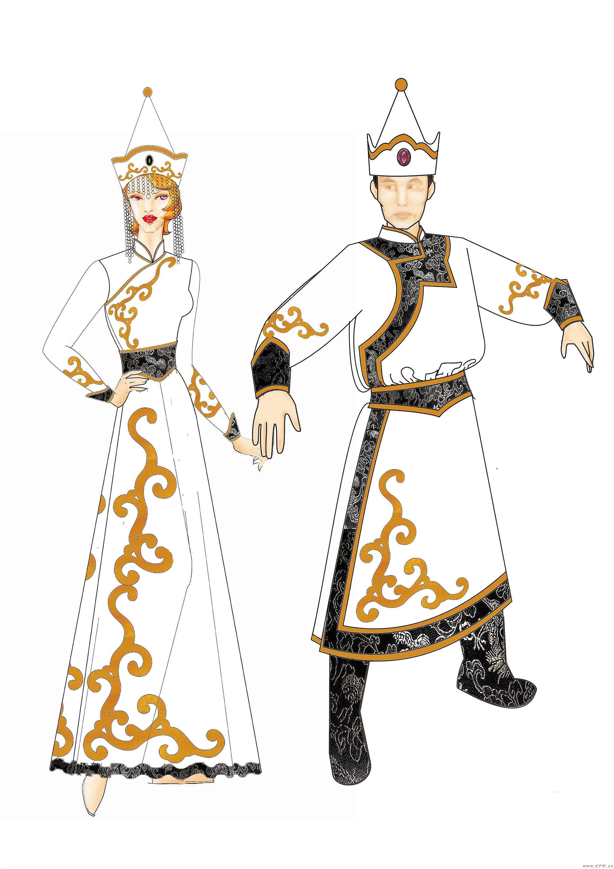 蒙古服3-男装设计-服装设计