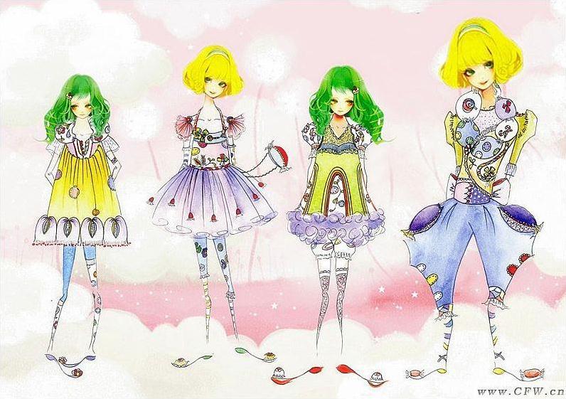 《公主的糖果派对》鲜艳的色彩和立体可爱的面料肌理是设计的亮点,让