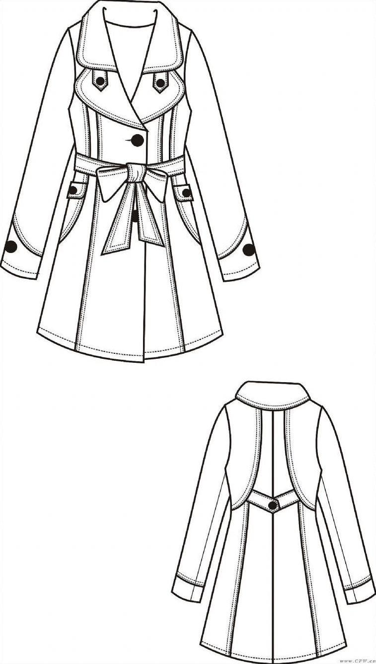 服装设计背面款式图-服装设计款式图手绘-服装设计效果图-服装设计图片