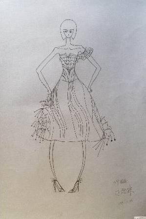 礼服发型手绘图