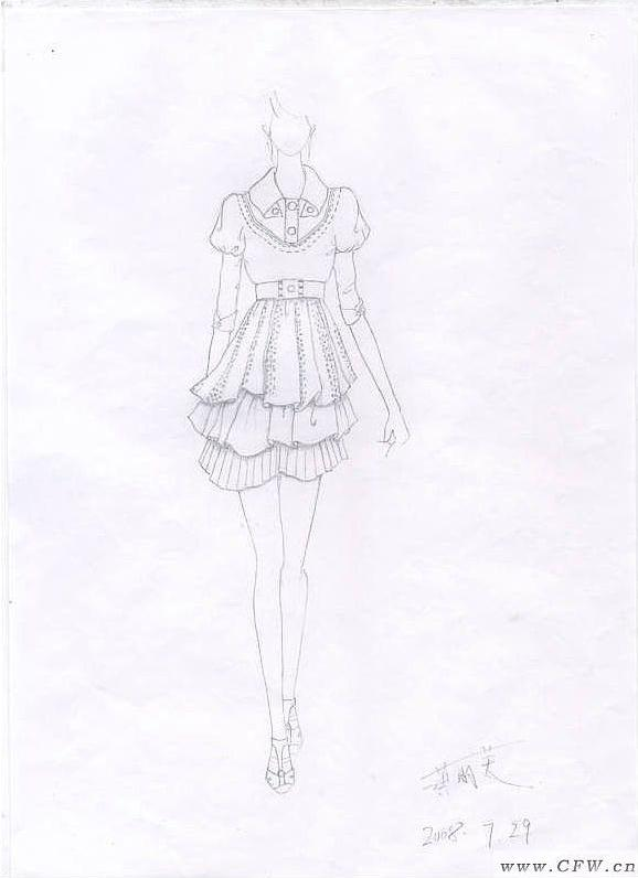 毛衫效果图-毛衫针织设计-服装设计
