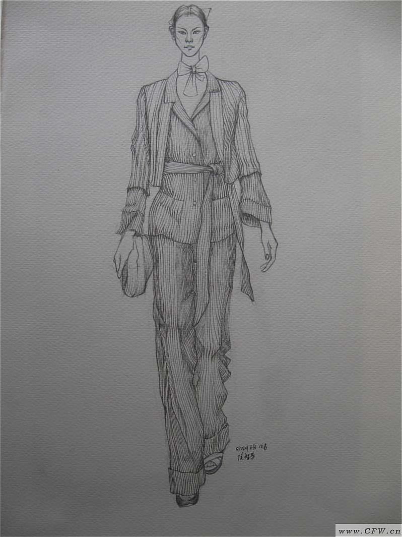 线描速写-女装设计-服装设计
