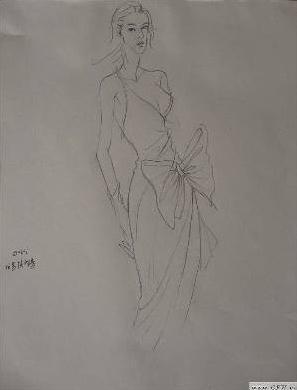 线描速写-女装设计-服装设计-服装设计网手机版 触屏