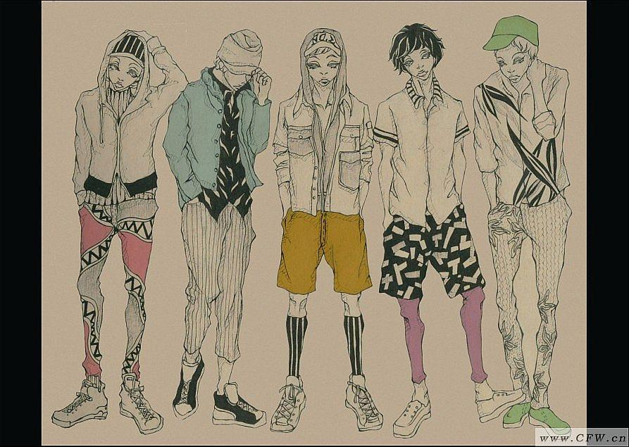男士休闲装-男装设计-服装设计