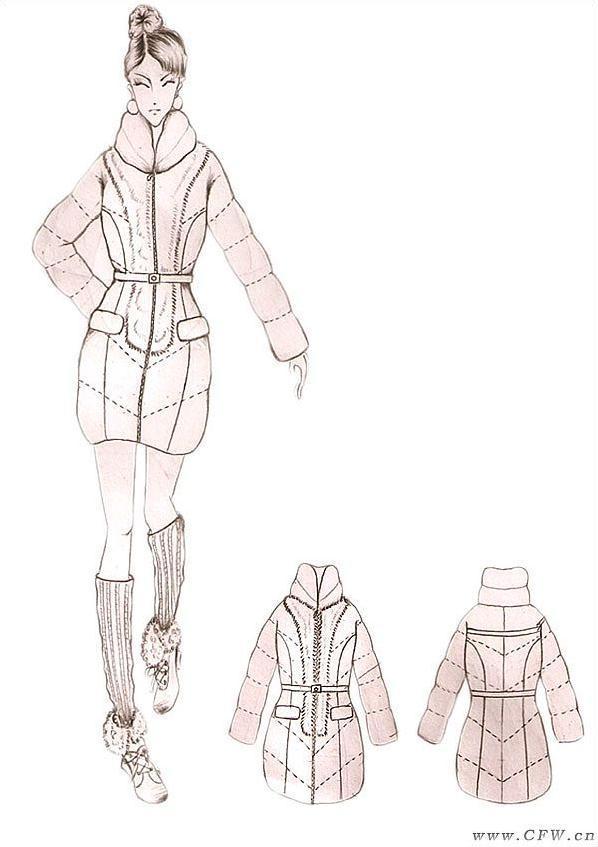 羽绒服-女装设计-服装设计