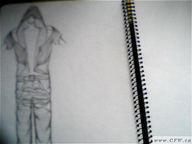 简单手绘图-男装设计-服装设计
