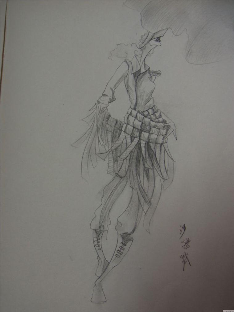 手稿-女装设计-服装设计