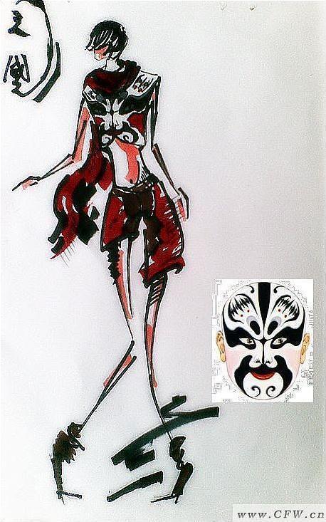脸谱-女装设计-服装设计