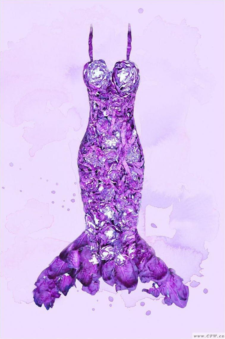 蔬菜服装-婚纱礼服设计-服装设计