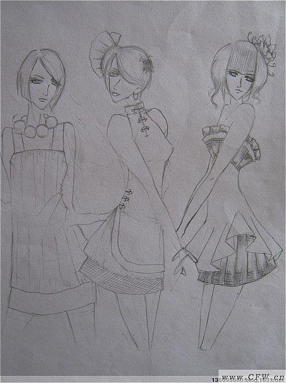 时装效果图-大赛作品设计-服装设计