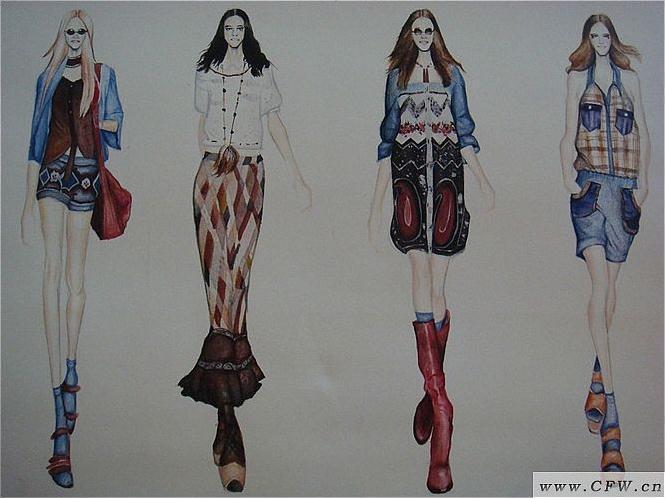 民族特色服装-女装设计-服装设计