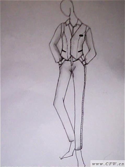 服装效果图-橱窗陈列设计-服装设计