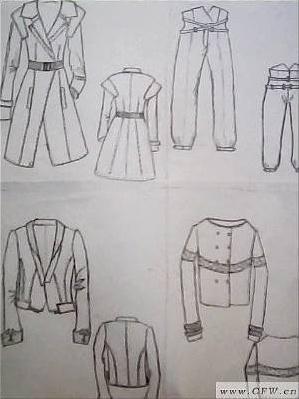 时装画彩铅-女装设计-服装设计-服装设计网手机版|触