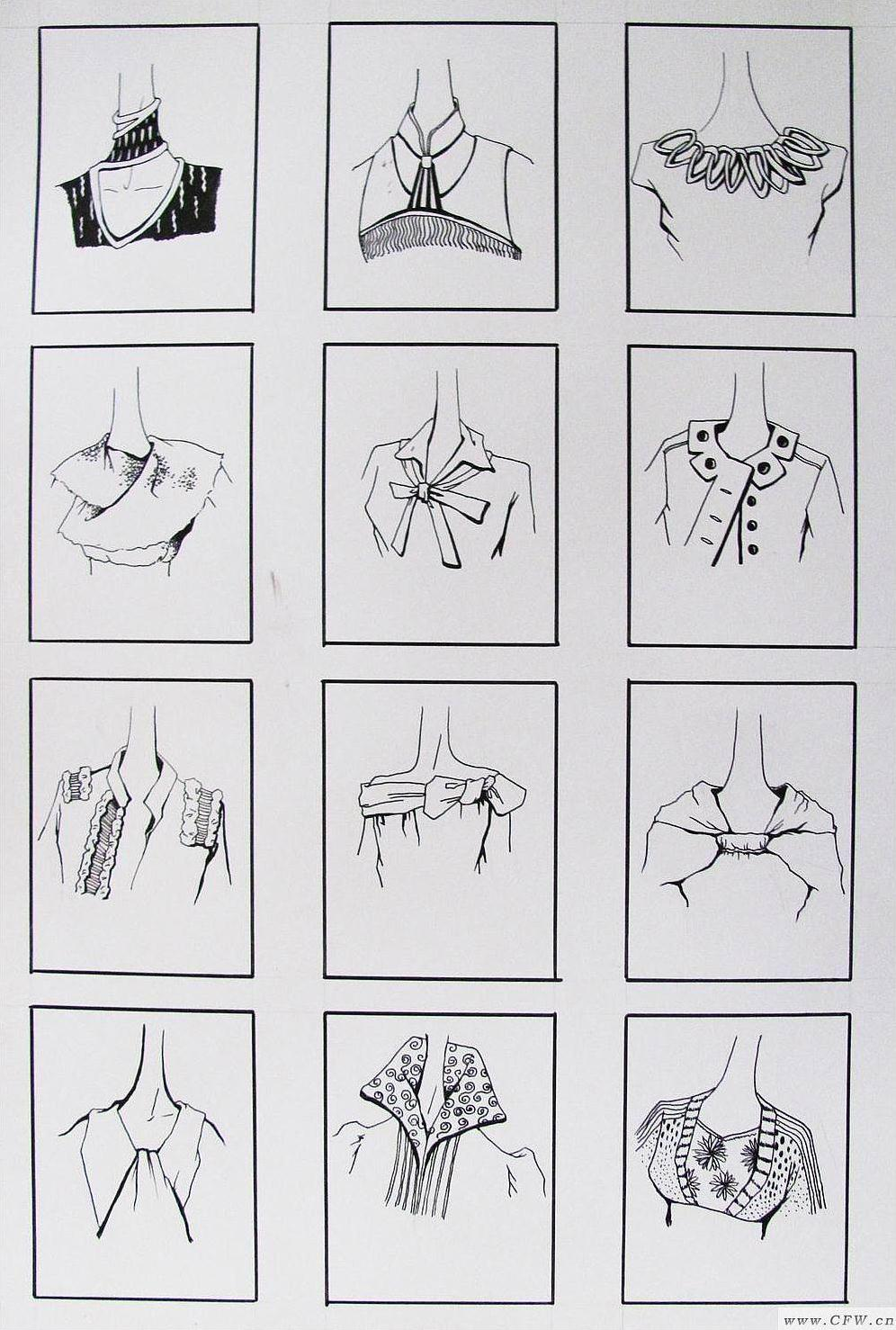 领子设计-女装设计-服装设计
