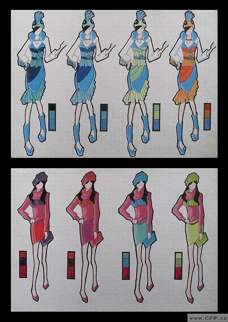 服装色彩练习
