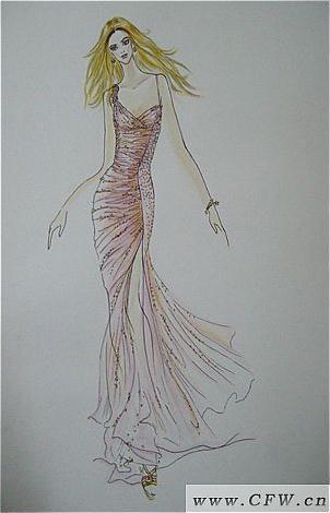 手绘图-婚纱礼服设计-服装设计