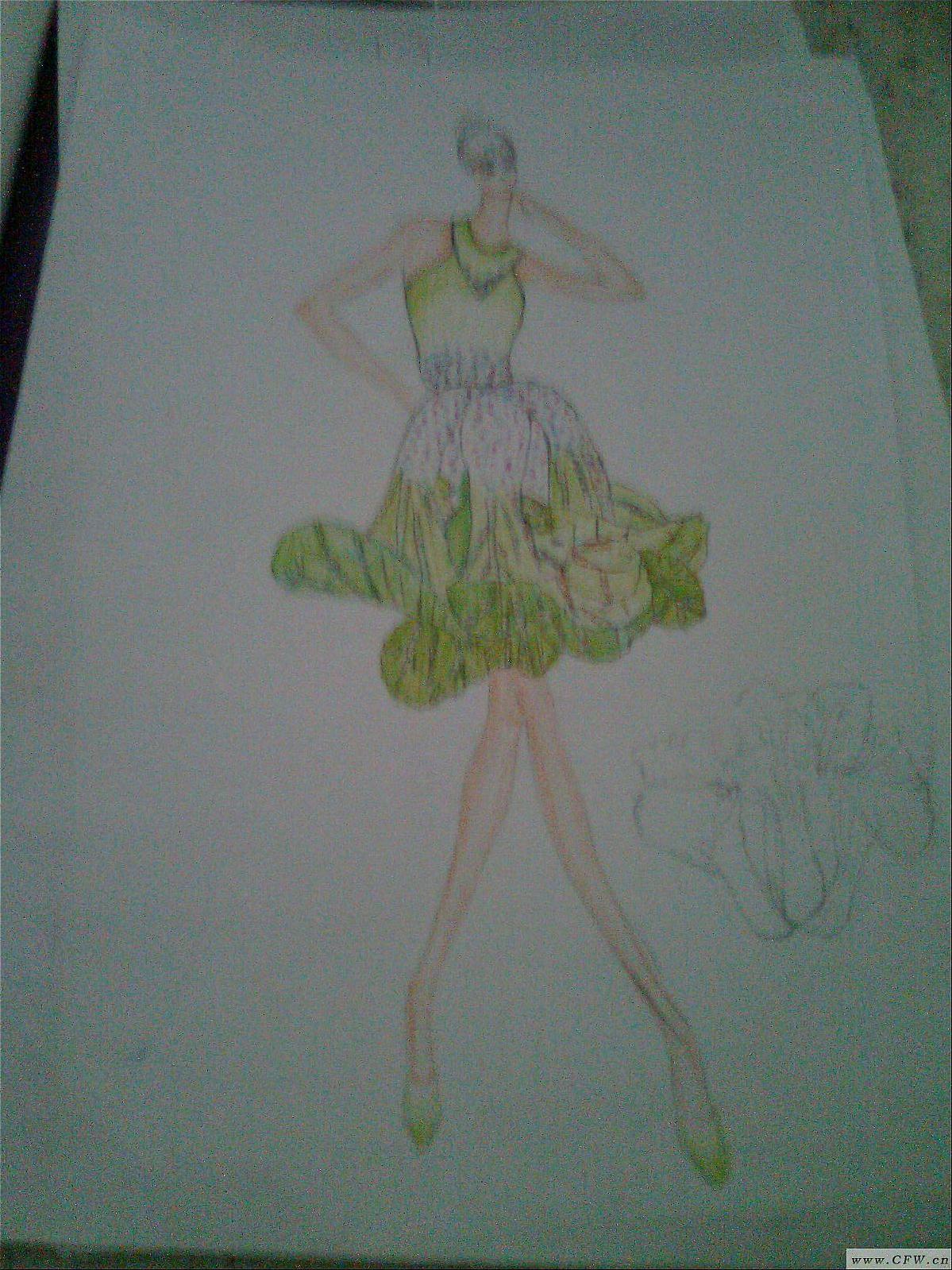 服装 归属:女装款式-连衣裙 分享: 格式:jpg 尺寸: 创意:来源于大自然