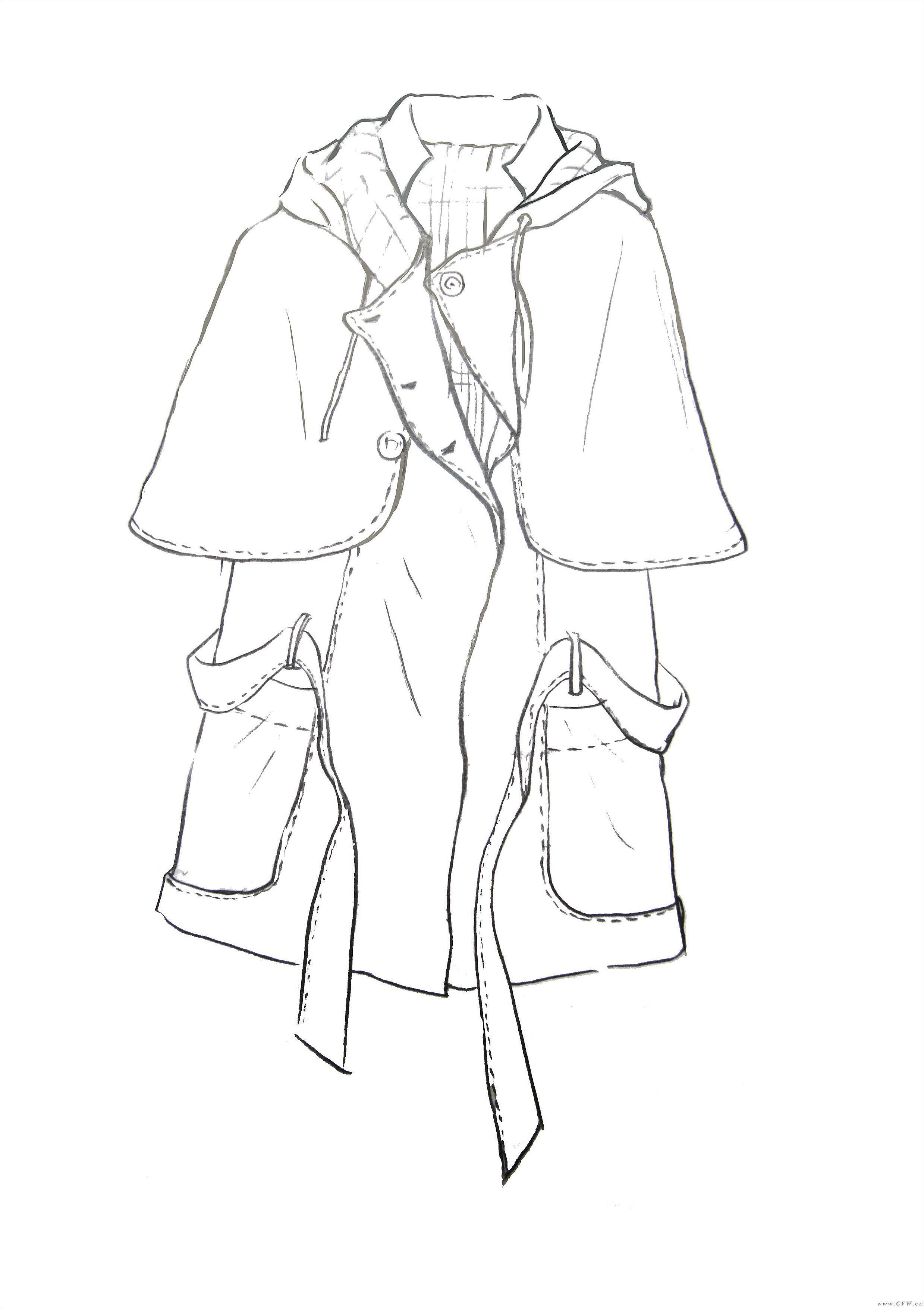 款式图-女装设计-服装设计