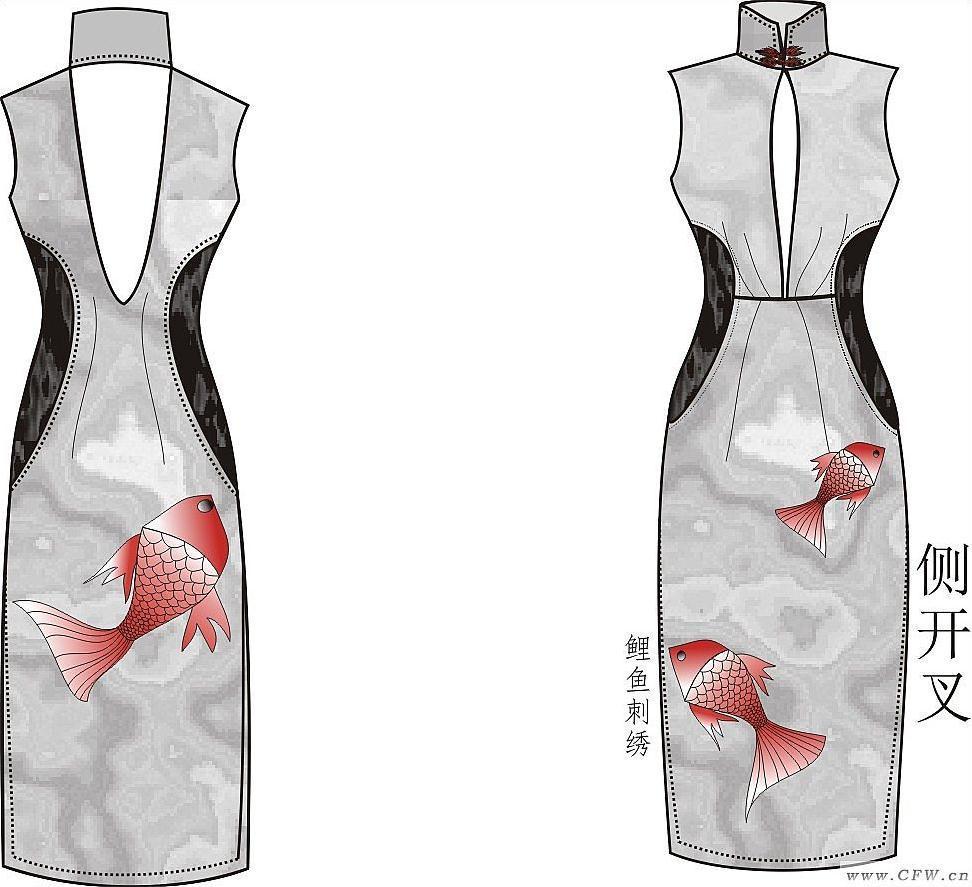 旗袍,創新設計-婚紗禮服設計-服裝設計