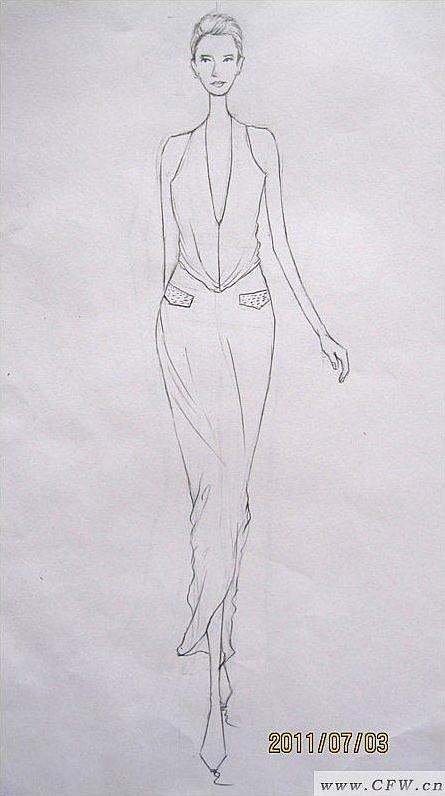 线稿-婚纱礼服设计-服装设计
