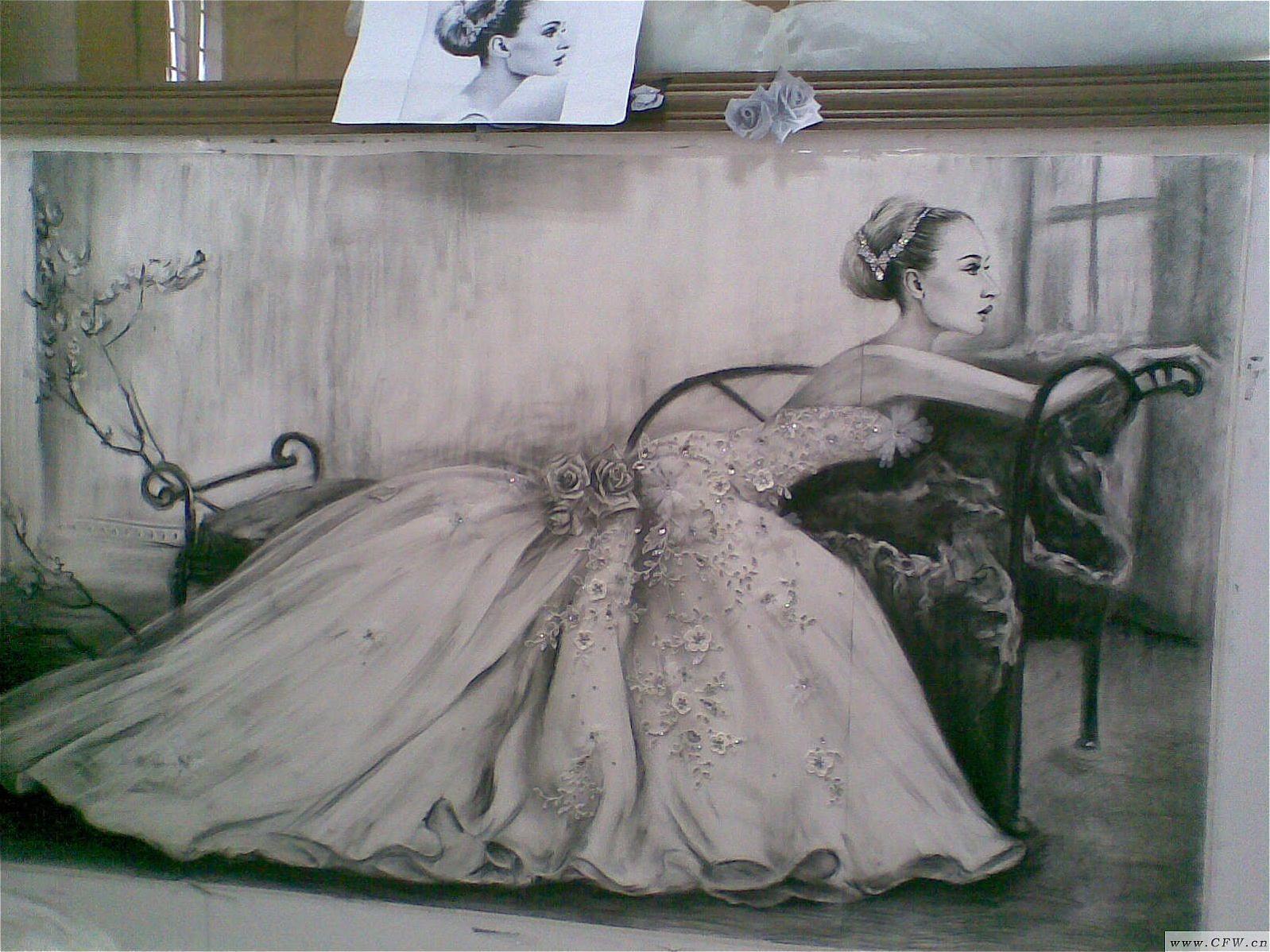 绘画-婚纱礼服设计-服装设计