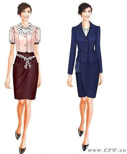 时尚职业装-职业服装设计-服装设计