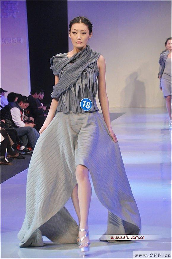 金丽杉羊绒时装设计大赛作品-大赛作品设计-服装设计