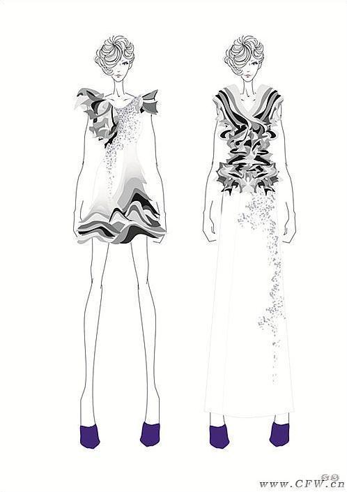 动漫手绘学习礼服