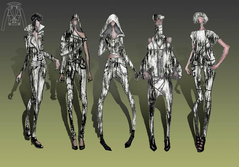 创意牛仔-女装设计-服装设计