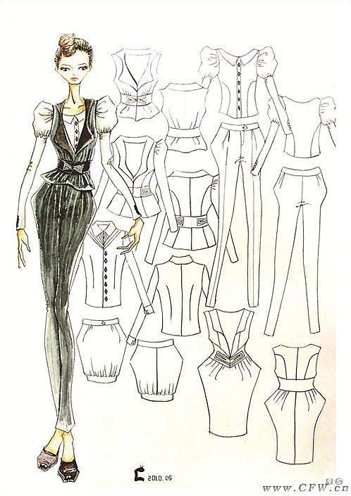 职业休闲装-职业服装设计-服装设计