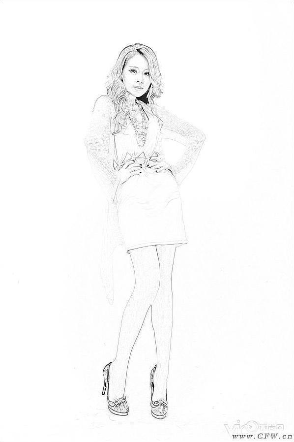 手绘连衣裙-女装设计-服装设计