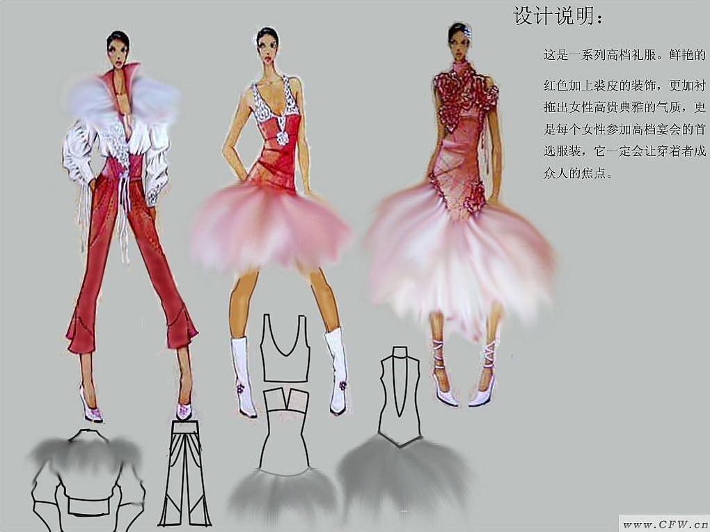 ps作品-婚纱礼服设计-服装设计