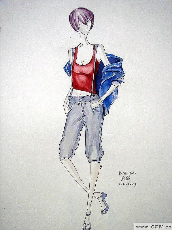 水彩手绘-女装设计-服装设计