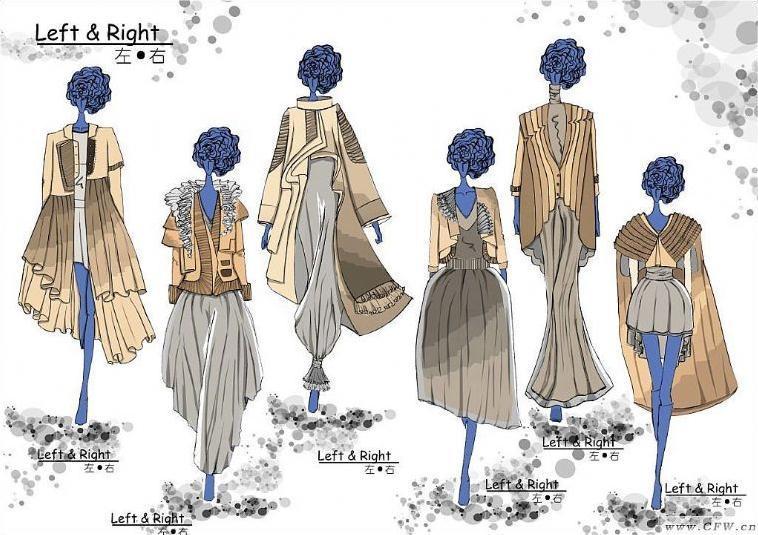 女装创意设计效果图-女装设计-服装设计