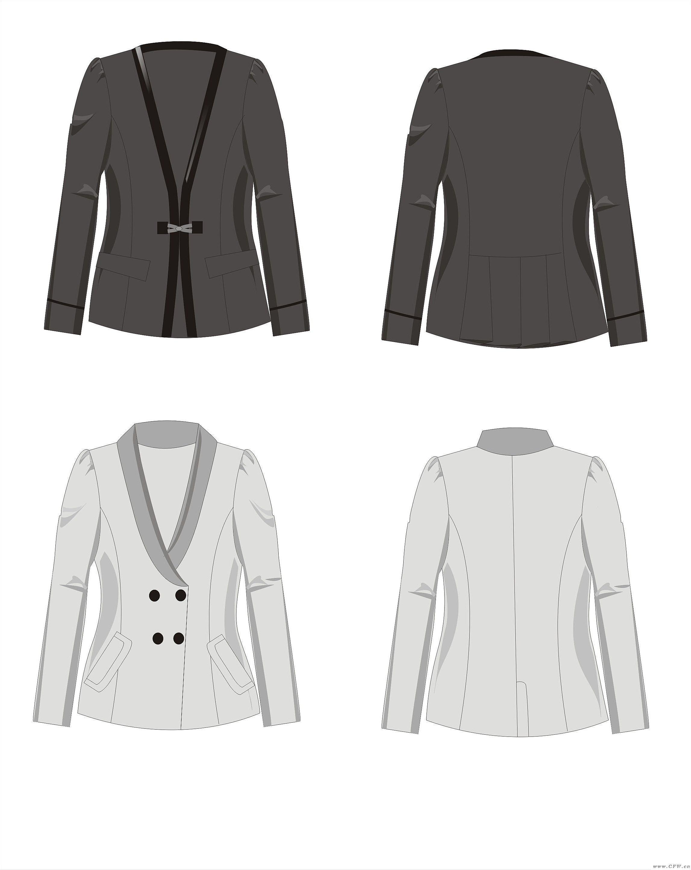 西装-女装设计-服装设计
