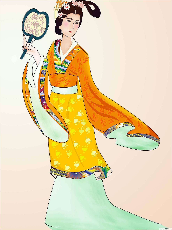 唐朝服饰-图案设计设计-服装设计