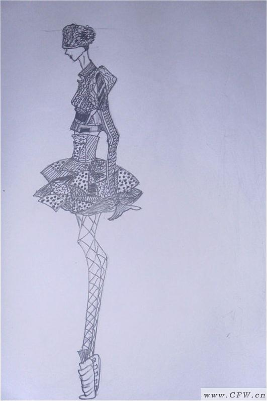 素描-其它设计设计-服装设计