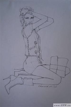 朋克风格服装设计手绘