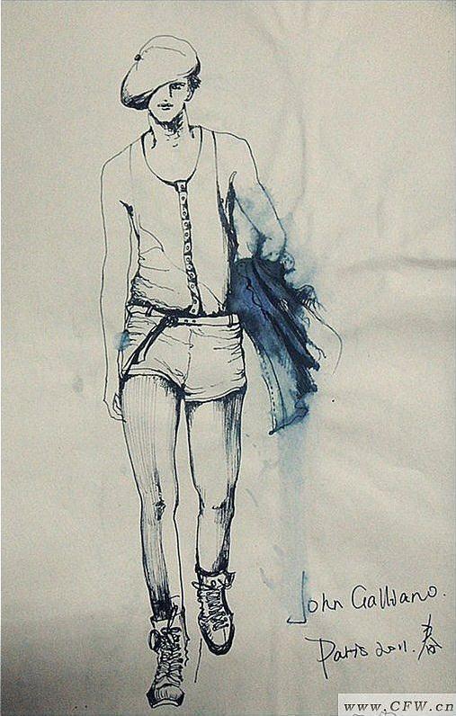 速写-男装设计-服装设计