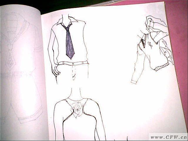 男装手绘图-男装设计-服装设计