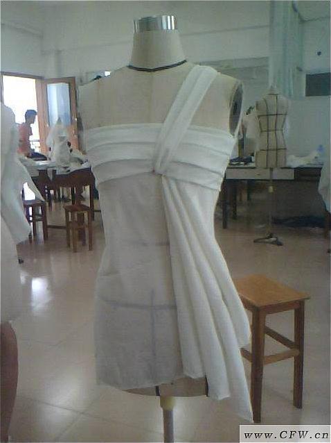 立体裁剪作品-婚纱礼服设计-服装设计
