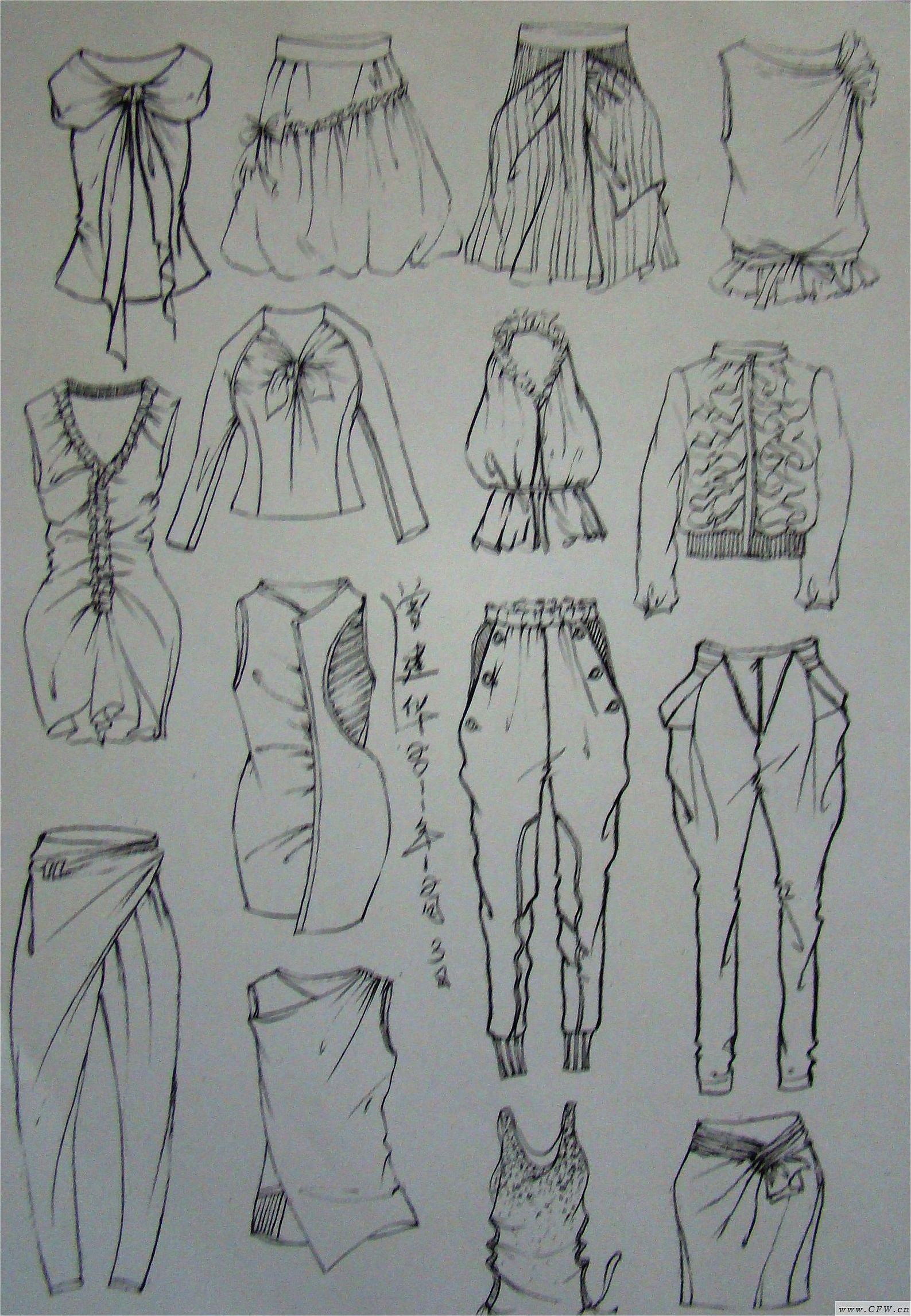 平日手绘图-女装设计-服装设计