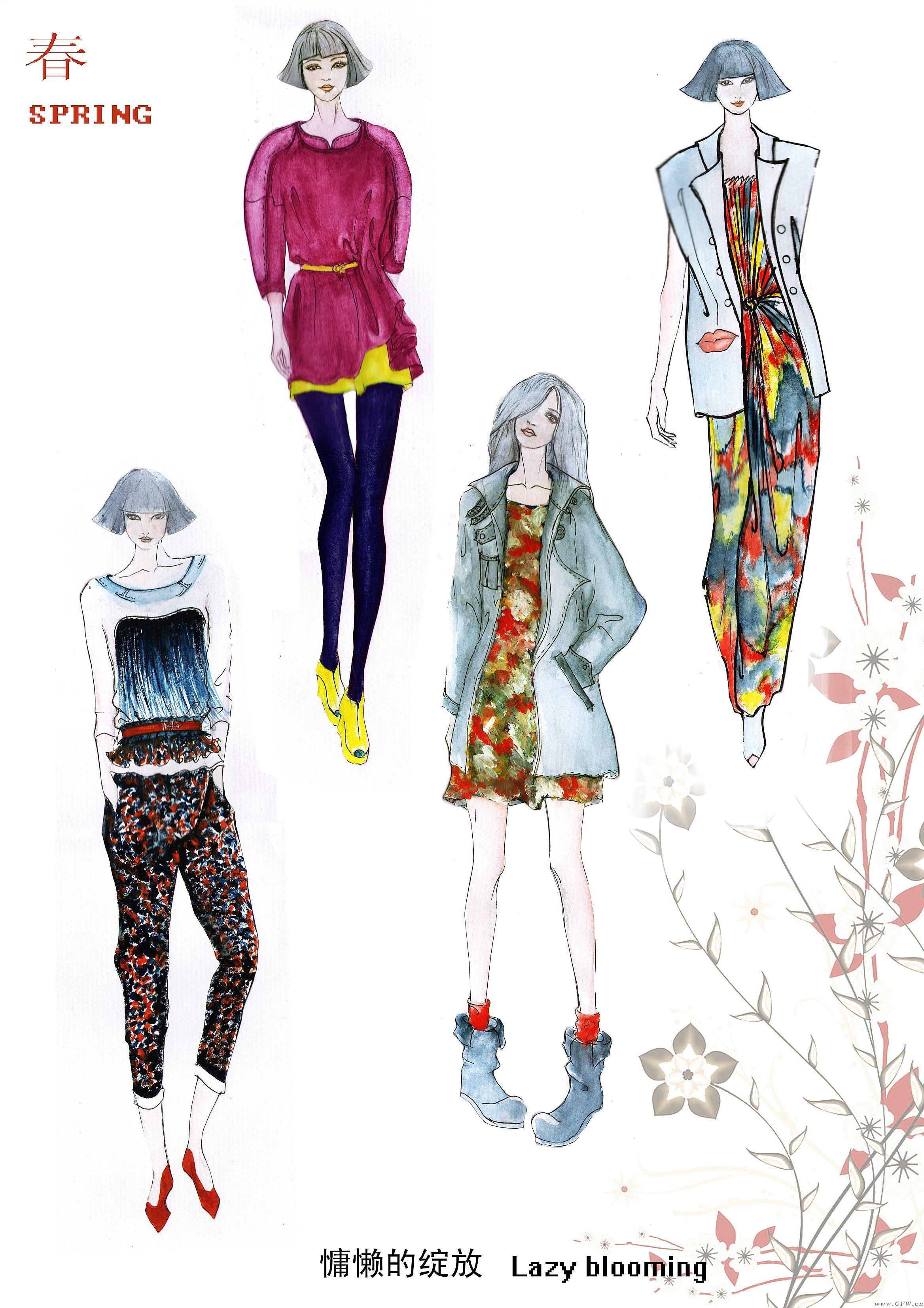 女装手绘系列