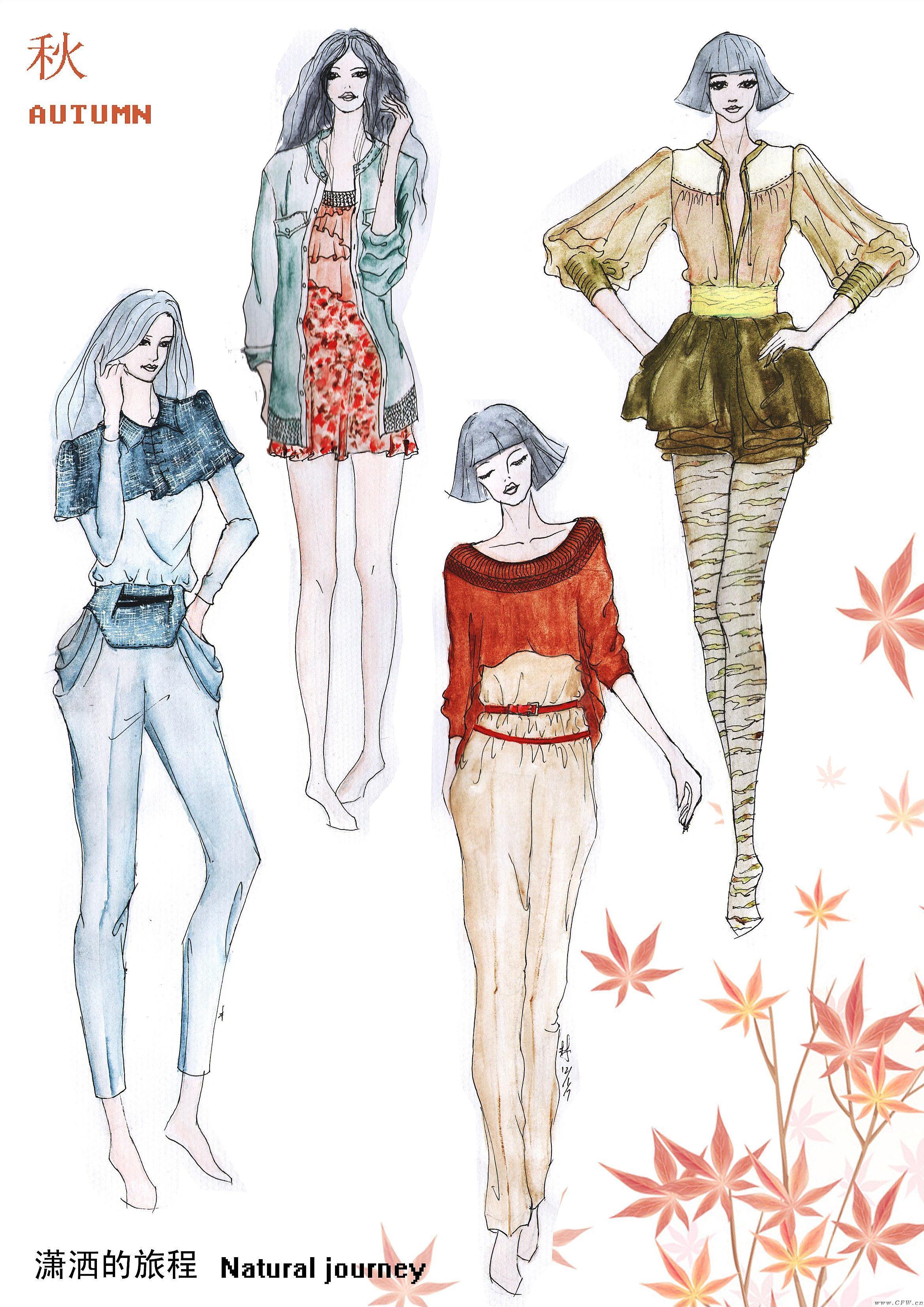 女装手绘系列-女装设计-服装设计